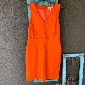 Banana republic sleeveless orange dress